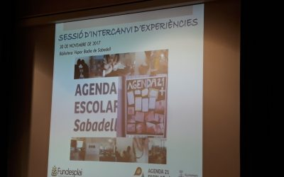30 Novembre 2017 Trobada d'Escoles Agenda21 Escolar Plus de Sabadell